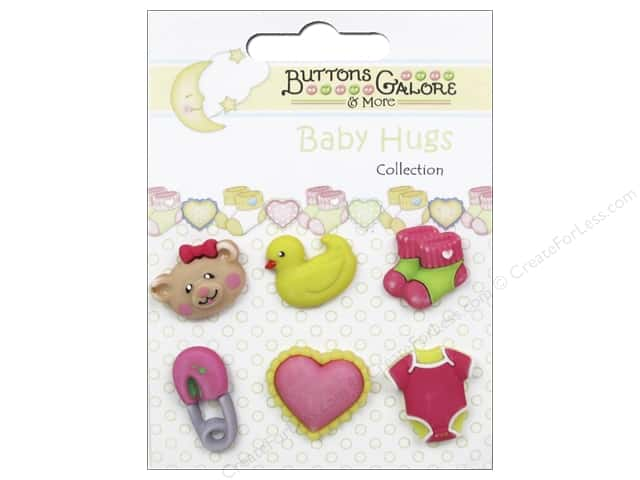 Buttons Galore Baby Hugs Buttons 6 pc.Sweet Baby Girl