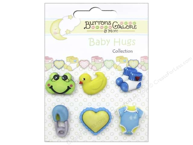 Buttons Galore Baby Hugs Buttons 6 pc. Little Baby Boy