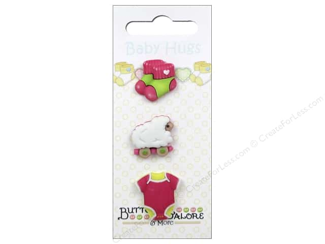 Buttons Galore Baby Hugs Buttons 3 pc. Sleep Tight Girl