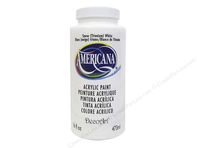 DecoArt Americana Acrylic Paint 16oz #1 Snow White