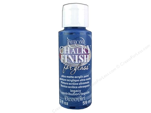 DecoArt Americana Chalky Finish for Glass Paint 2oz. Legacy