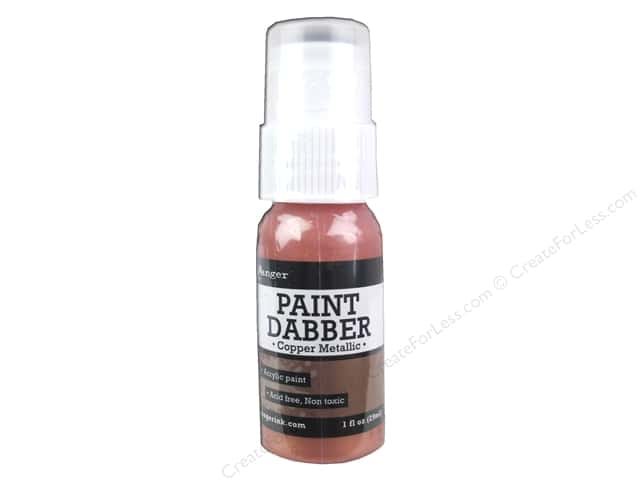 Ranger Acrylic Paint Dabbers 1 oz. Copper Metallic