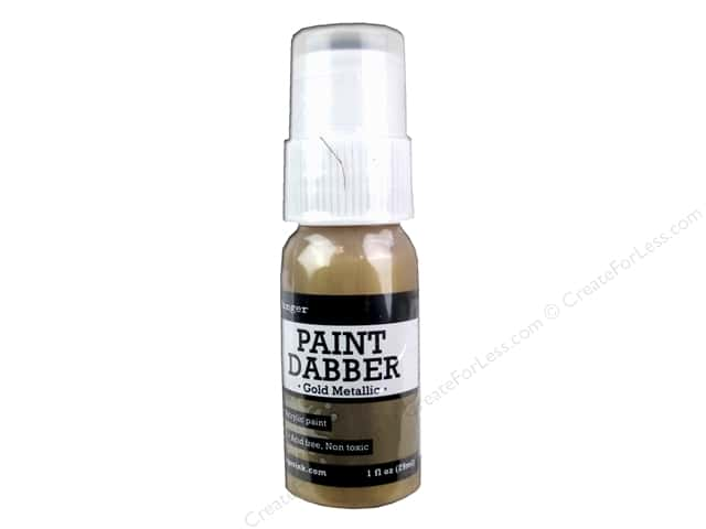 Ranger Acrylic Paint Dabbers 1 oz. Gold Metallic