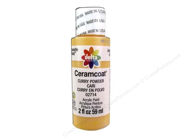 Ceramcoat Acrylic Paint by Delta 2 oz. #2714 Curry Powder