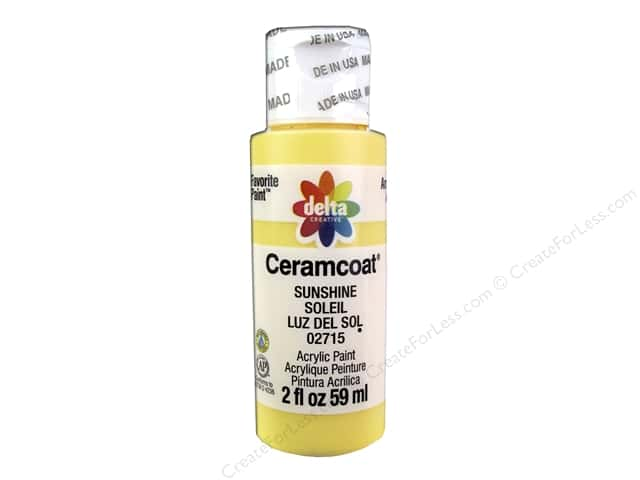 Ceramcoat Acrylic Paint by Delta 2 oz. #2715 Sunshine