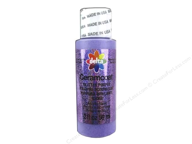 Ceramcoat Acrylic Paint by Delta 2 oz. #3008 Glitter Purple