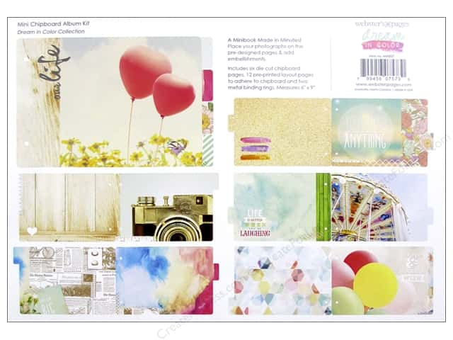 Webster's Pages Chipboard Album Dream In Color