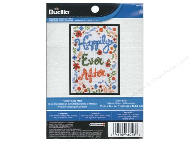 Bucilla Counted Cross Stitch Kit 4 1/2 x 6 1/2 in. Happily Ever After