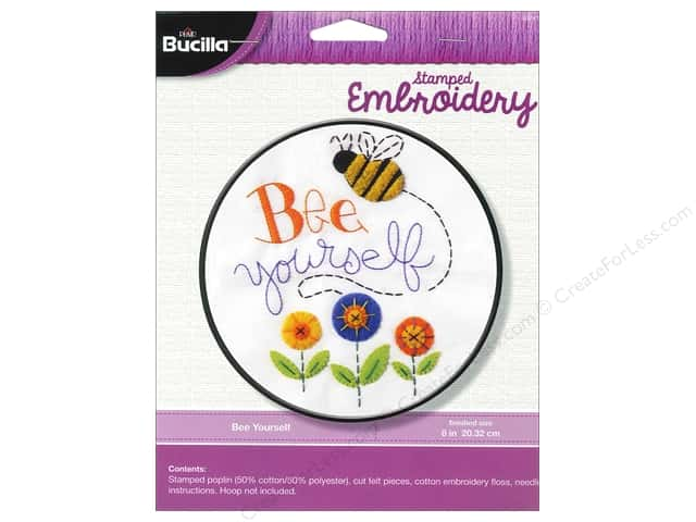 Bucilla Stamped Embroidery Kit Bee Yourself