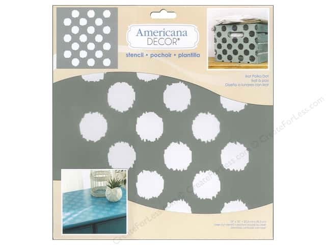 DecoArt Americana Decor Stencil 12 x 12 in. Ikat Polka Dot