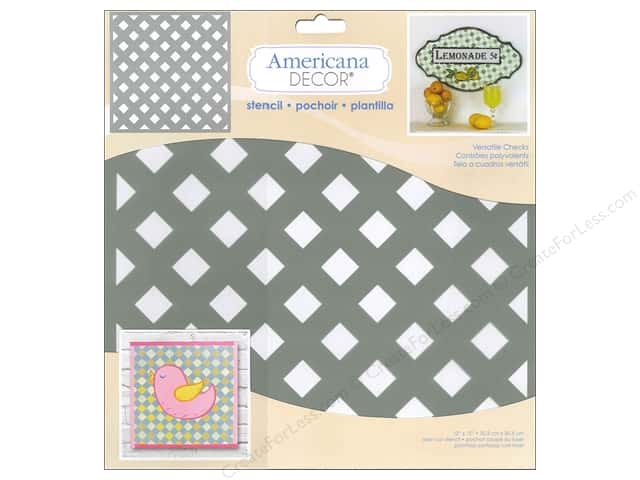 DecoArt Americana Decor Stencil 12 x 12 in. Versatile Checks