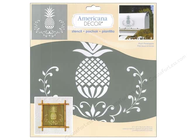 DecoArt Americana Decor Stencil 12 x 12 in. Posh Pineapple