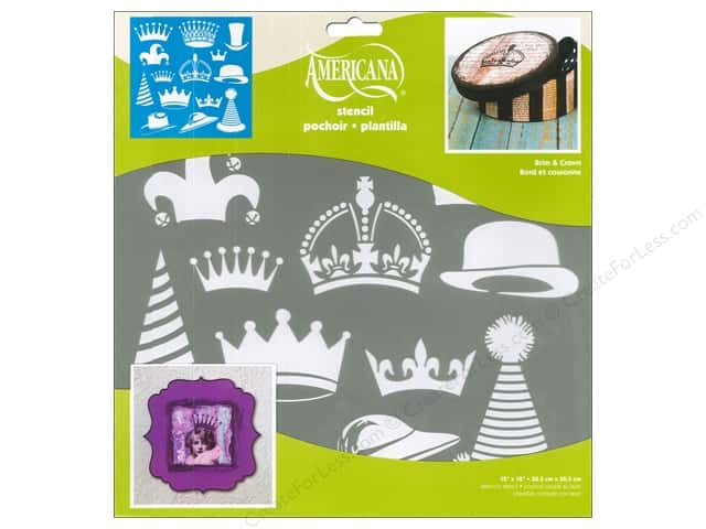 DecoArt Americana Stencil 12 x 12 in. Brim & Crown