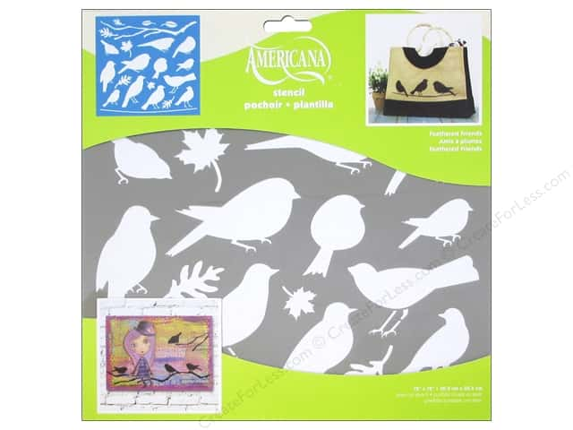 DecoArt Americana Stencil 12 x 12 in. Feathered Friends
