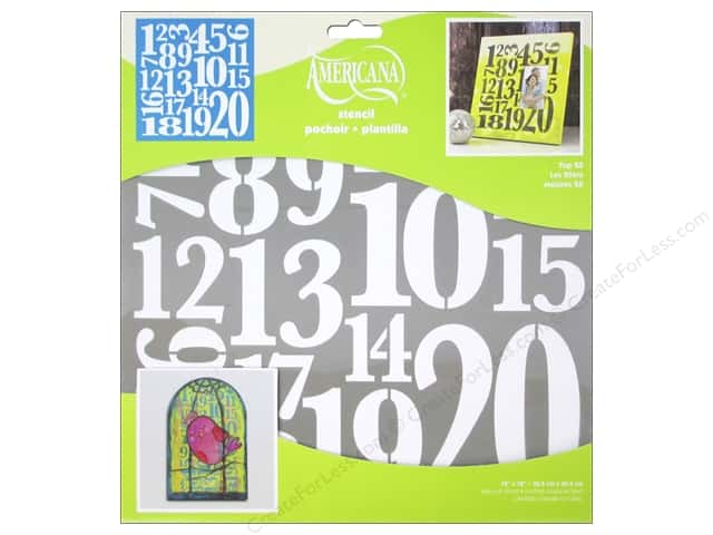 DecoArt Americana Number Stencils 12 x 12 in. Top 20