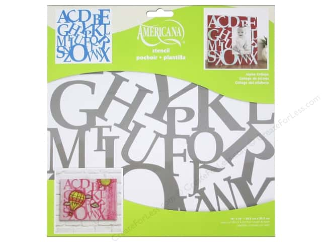 DecoArt Americana Stencil 12 x 12 in. Alphabet Collage