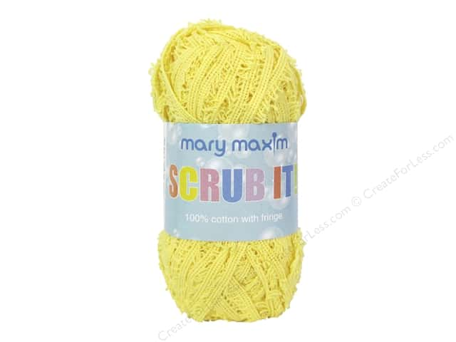 Mary Maxim Scrub It Yarn 76 yd. Yellow