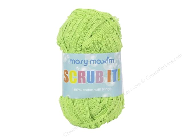 Mary Maxim Scrub It Yarn 76 yd. Lime