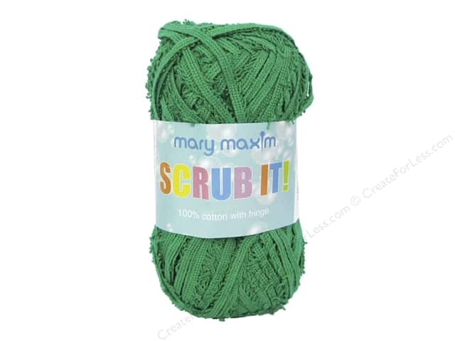 Mary Maxim Scrub It Yarn 76 yd. Green