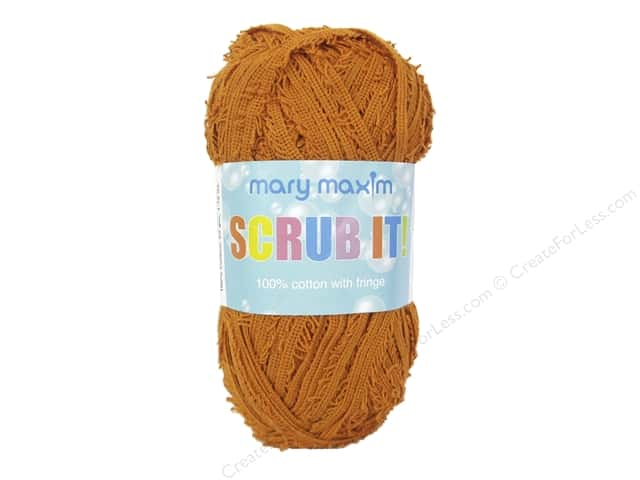 Mary Maxim Scrub It Yarn 76 yd. Ginger