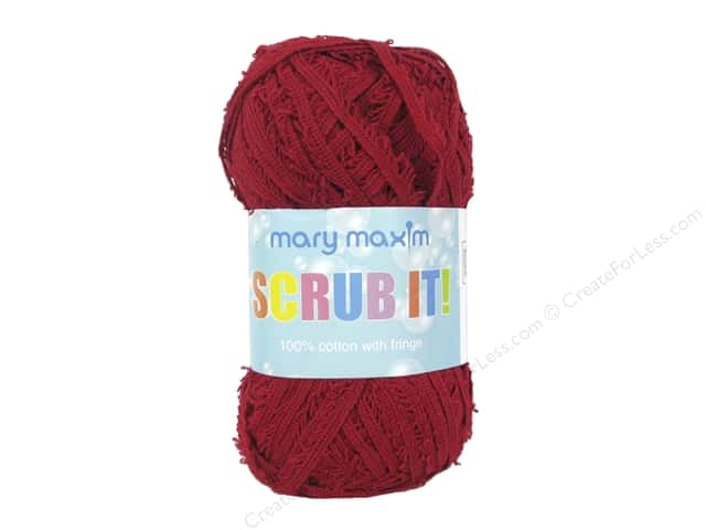 Mary Maxim Scrub It Yarn 76 yd. Cranberry