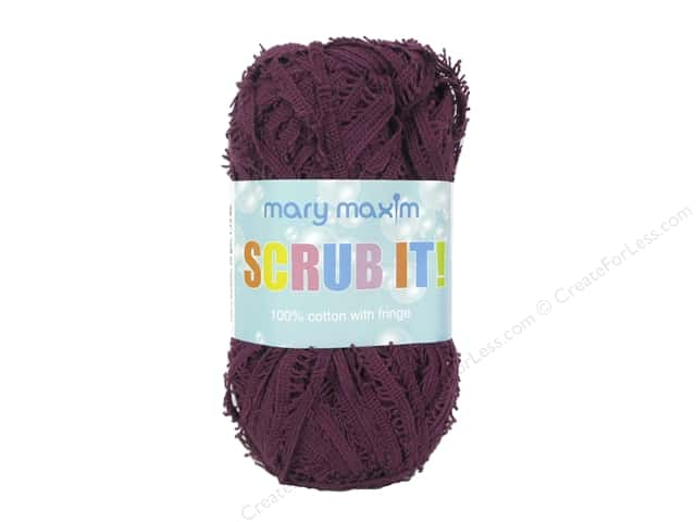 Mary Maxim Scrub It Yarn 76 yd. Plum