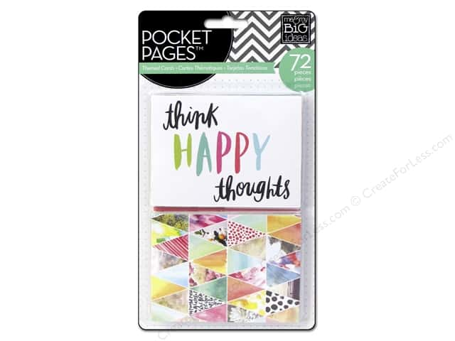 Me & My Big Ideas Pocket Pages Embellished Cards Journal Elements