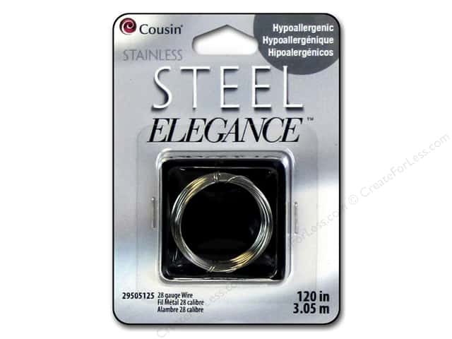 Cousin Elegance Wire 28 Ga 120 in. Stainless Steel