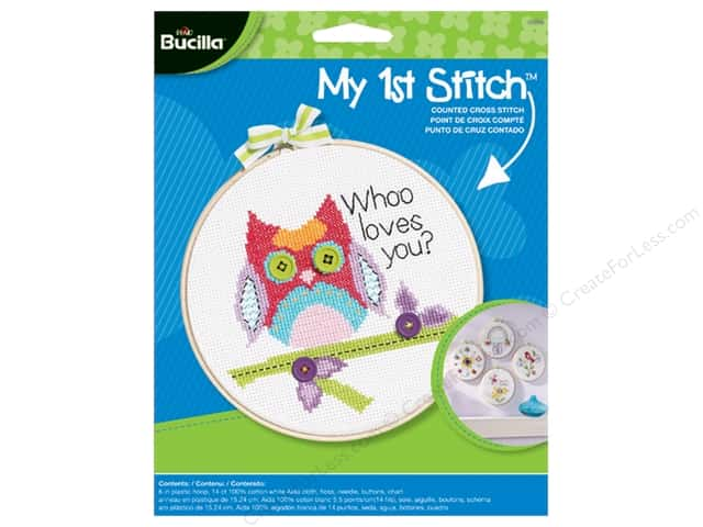 Bucilla Counted Cross Stitch Kit 6 in. My 1st Stitch Whoo Loves You