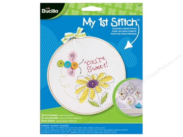 Bucilla Counted Cross Stitch Kit 6 in. My 1st Stitch You're Sweet