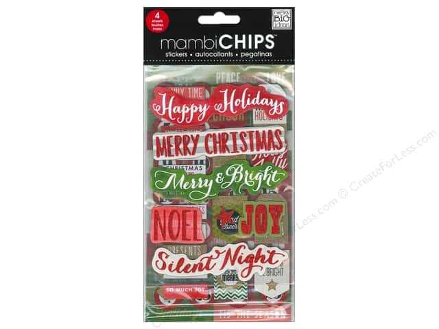Me&My Big Ideas Sticker Designer Chipboard Holiday Tags/Numbers