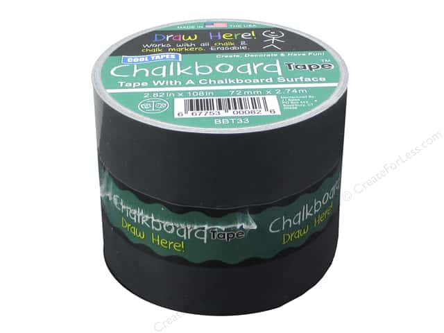 Cool Tapes Chalkboard Tape 2.82 x 108 in. Black