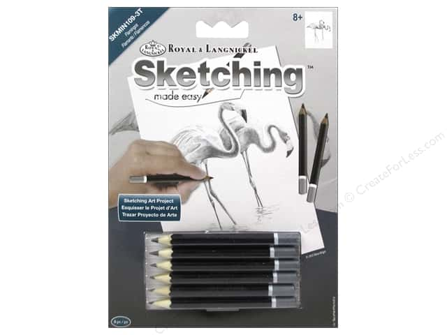 Royal Sketching Made Easy Mini Flamingoes