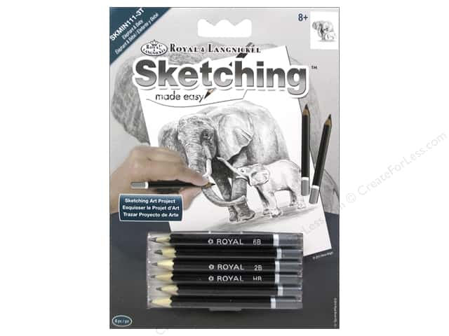 Royal Sketching Made Easy Mini Elephant & Baby