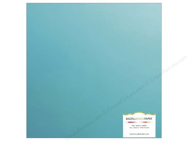 Bazzill 12 x 12 in. Foil Cardstock Teal (15 sheets)