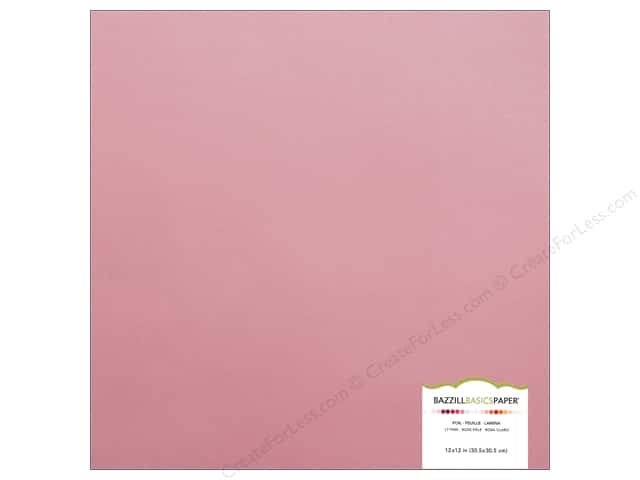 Bazzill 12 x 12 in. Foil Cardstock Light Pink (15 sheets)