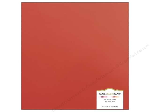 Bazzill 12 x 12 in. Foil Cardstock Red (15 sheets)