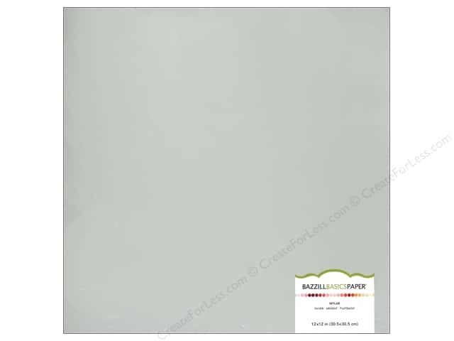 Bazzill Mylar 12 x 12 in. Silver (15 sheets)