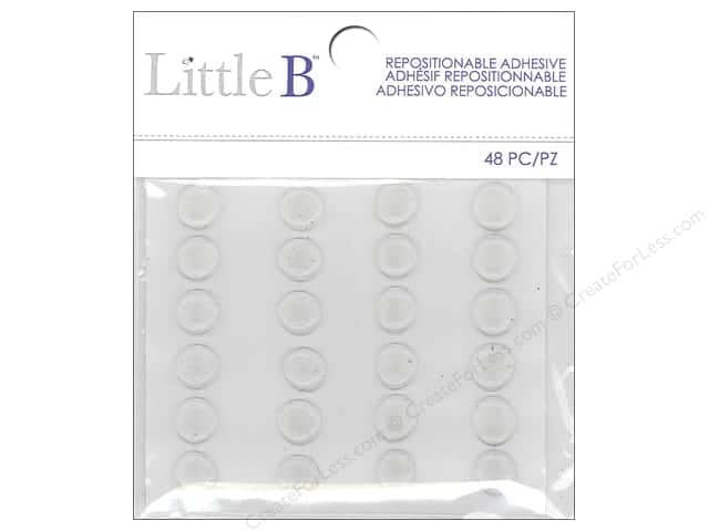 Little B Die Accessories Adhesive Dots Repositionable 48pc
