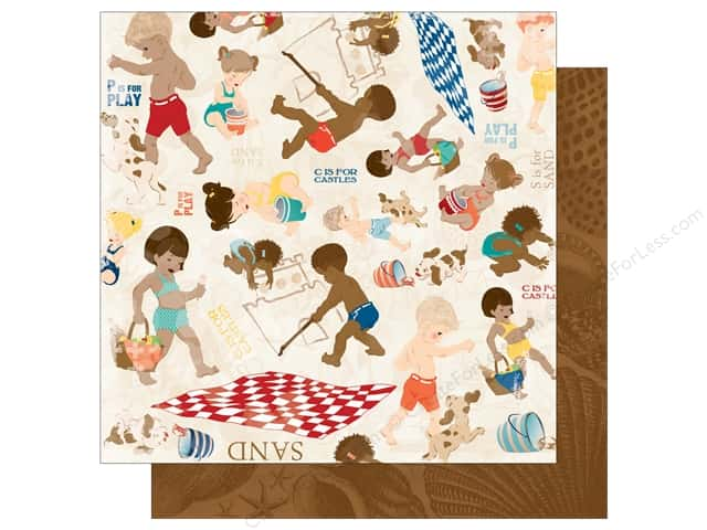 Bo Bunny 12 x 12 in. Paper Boardwalk Collection Carefree (25 sheets)
