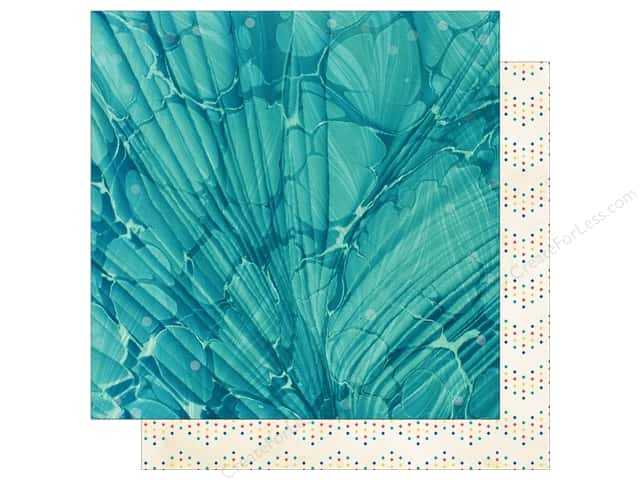 Bo Bunny 12 x 12 in. Paper Boardwalk Collection Waves (25 sheets)