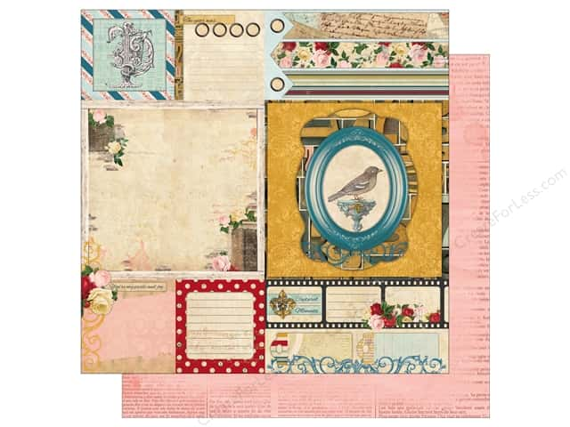 Bo Bunny 12 x 12 in. Paper Juliet Collection Nostalgia (25 sheets)