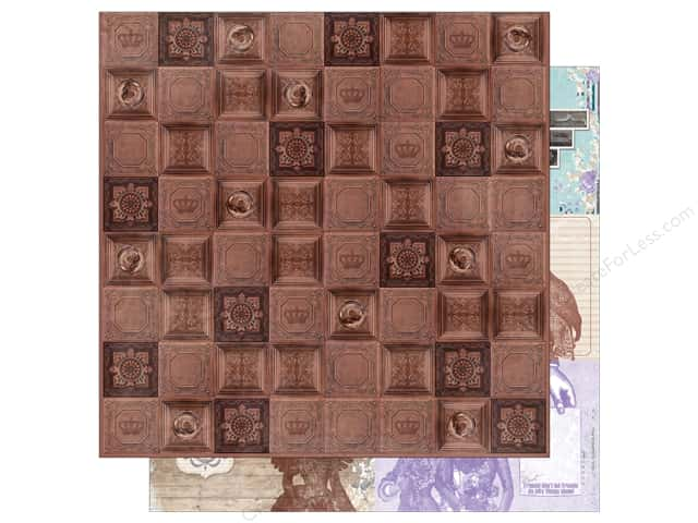 Bo Bunny 12 x 12 in. Paper Penny Emporium Collection Copper Tiles (25 sheets)