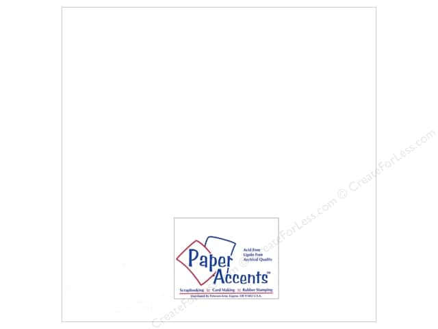 Paper Accents Adhesive Vinyl 12 x 12 in. Removable White (12 sheets)