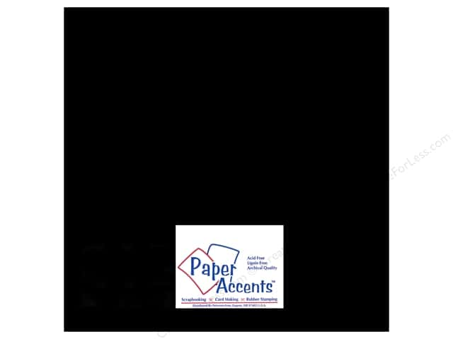 Paper Accents Adhesive Vinyl 12 x 12 in. Removable Black (12 sheets)