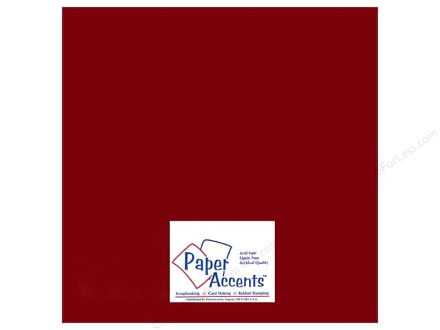 Paper Accents Adhesive Vinyl 12 x 12 in. Removable Dark Red (12 sheets)