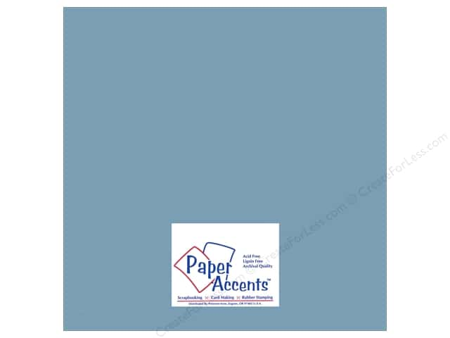 Paper Accents Adhesive Vinyl 12 x 12 in. Removable Ice Blue (12 sheets)