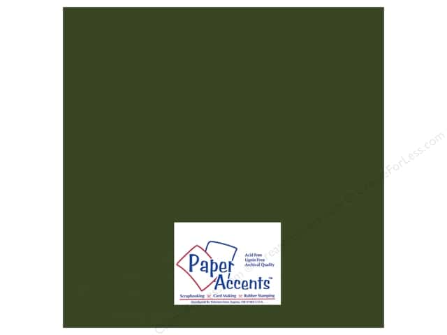Paper Accents Adhesive Vinyl 12 x 12 in. Removable Matte Dark Green (12 sheets)