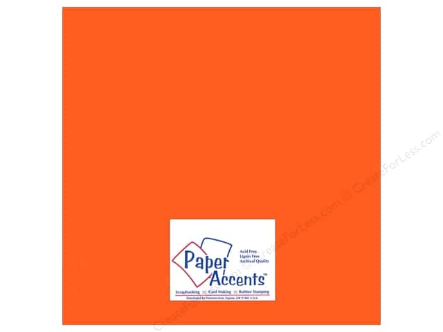 Paper Accents Adhesive Vinyl 12 x 12 in. Removable Pastel Orange (12 sheets)