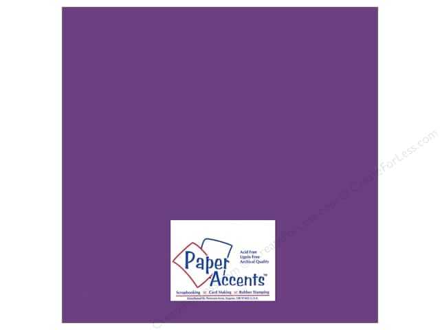 Paper Accents Adhesive Vinyl 12 x 12 in. Removable Matte Violet (12 sheets)